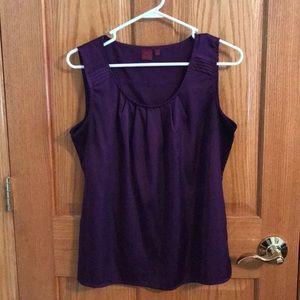 Shirt, sleeveless, Purple, Size Medium